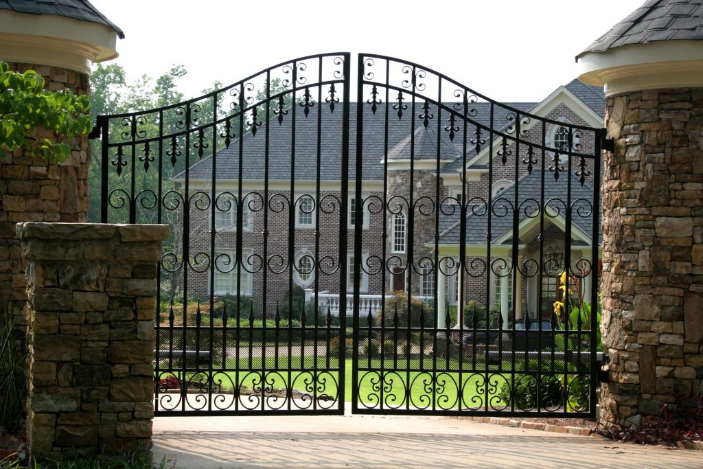 big black decorative gate